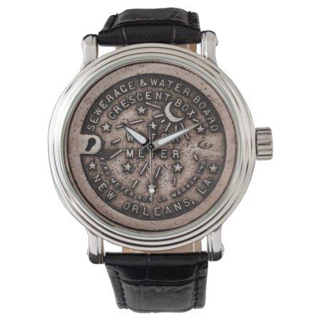 Water Meter Lid Clock Face Wrist Watch