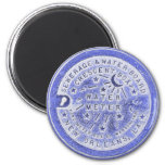 Water Meter Lid in Blue 2 Inch Round Magnet