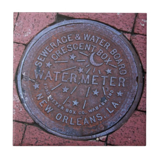 Water Meter Small Square Tile