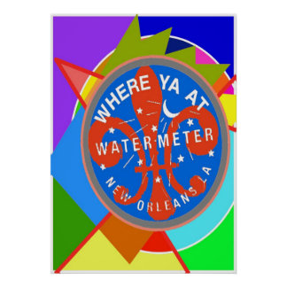 Water Meter Where Yat Abstract Colors Poster