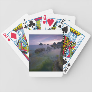 Water Misty Reef Rocks Bicycle Poker Cards