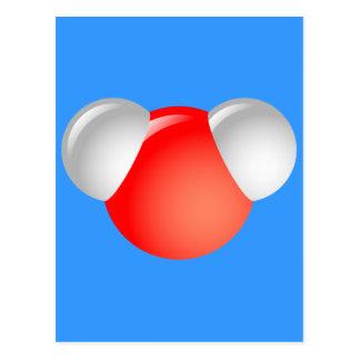 Water Molecule H2O Postcard