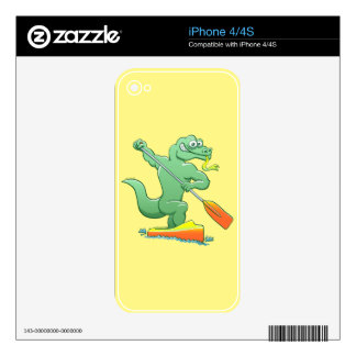 Water monitor competing in a canoe sprint event decals for iPhone 4