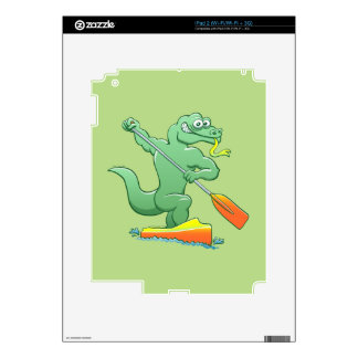 Water monitor competing in a canoe sprint event iPad 2 skin
