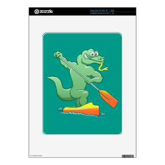 Water monitor competing in a canoe sprint event iPad decal