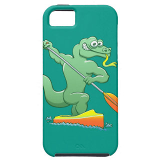 Water monitor competing in a canoe sprint event iPhone SE/5/5s case