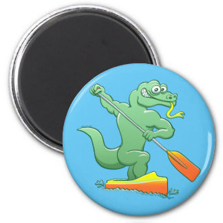 Water monitor competing in a canoe sprint event magnet