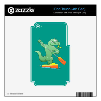 Water monitor competing in a canoe sprint event skins for iPod touch 4G