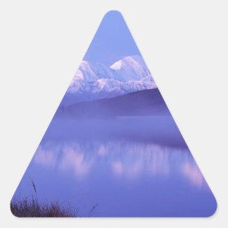 Water Mount Denali Alaska Triangle Sticker