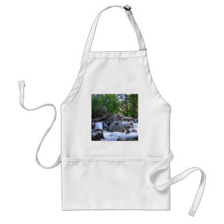 Water Mountain River Falls Adult Apron