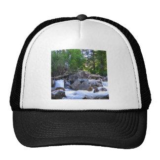 Water Mountain River Falls Mesh Hat