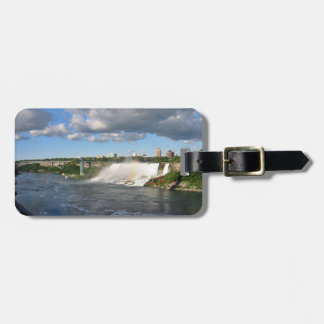Water moving down the river luggage tag