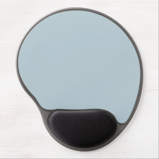 Water Muted Light Blue Solid Color Background Gel Mouse Pad