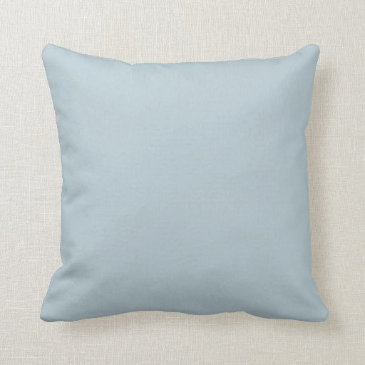 Muted Blue Throw Pillows : Water Muted Light Blue Solid Color Background Pillow Zazzle