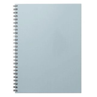 Water Muted Light Blue Solid Color Background Spiral Notebook