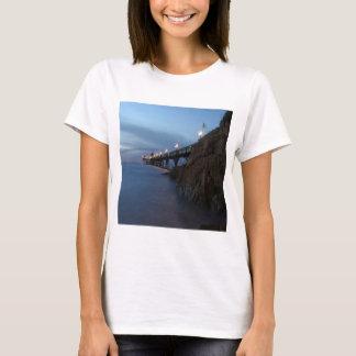 Water Nightime Pier Shot T-Shirt