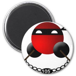 Water Ninja 2 Inch Round Magnet