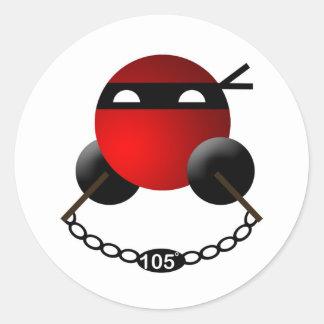 Water Ninja Classic Round Sticker