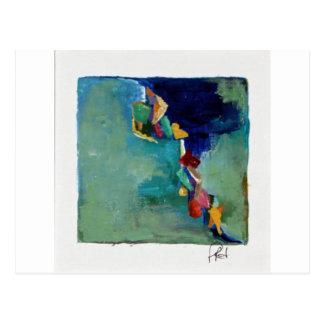 Water No. 76 abstract acrylic Postcard