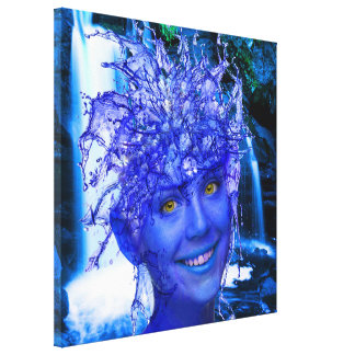 Water Nymph Stretched Canvas Prints