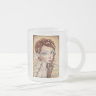 Water Nymph Frosted Glass Coffee Mug