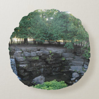 Water Oasis Round Pillow