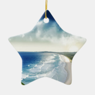 Water Oceanic Breakers Ceramic Ornament