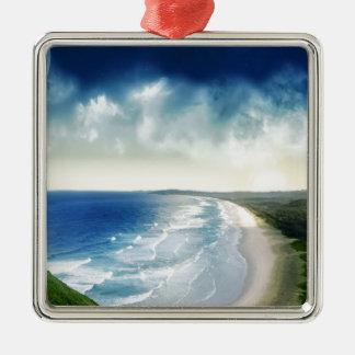 Water Oceanic Breakers Metal Ornament