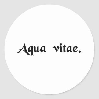 Water of life classic round sticker