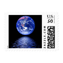 Water of Life Globe Earth Day World Stamp