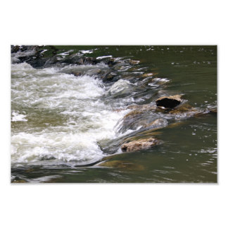 Water of the Guadiaro river between jumping betwee Art Photo