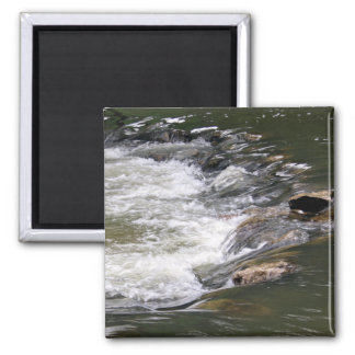 Water of the Guadiaro river jumping between rocks 2 Inch Square Magnet