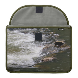 Water of the Guadiaro river jumping between rocks Sleeve For MacBook Pro