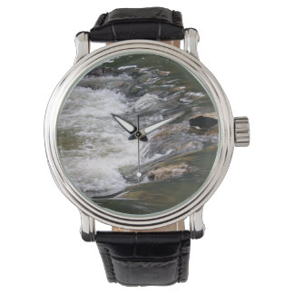 Water of the Guadiaro river jumping between rocks Wristwatch