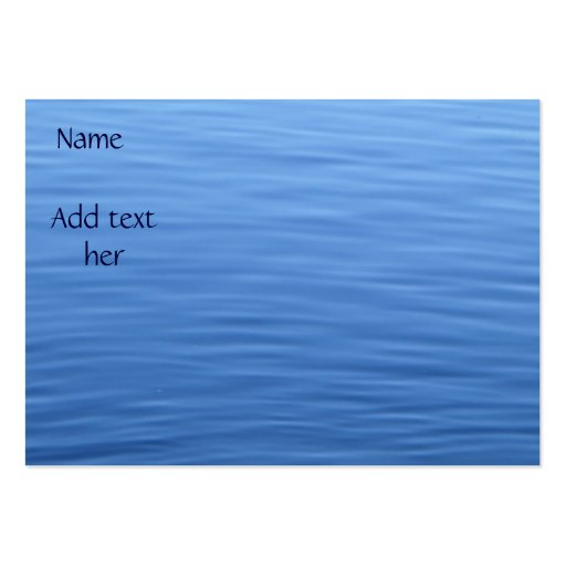Water of the sea_Business Card Business Card Templates