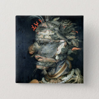 Water, (oil on canvas), Arcimboldo, Giuseppe Button