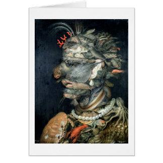 Water, (oil on canvas), Arcimboldo, Giuseppe Card
