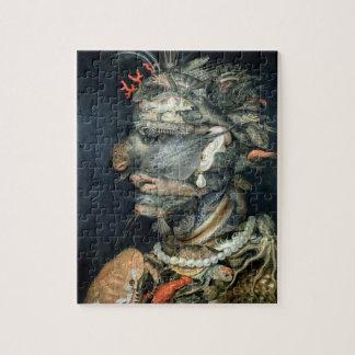 Water, (oil on canvas), Arcimboldo, Giuseppe Jigsaw Puzzle