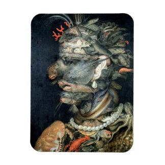 Water, (oil on canvas), Arcimboldo, Giuseppe Rectangular Photo Magnet