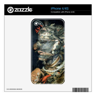 Water, (oil on canvas), Arcimboldo, Giuseppe Skins For iPhone 4S