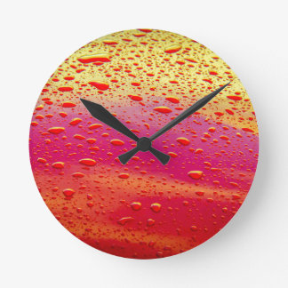 Water on Paintwork Round Wall Clocks
