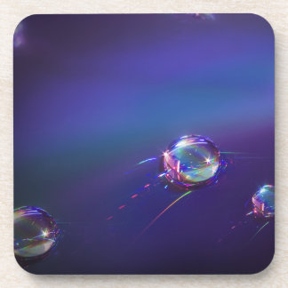 Water on Plastic Abstract Coaster