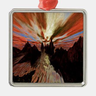 Water On Red Rocks Metal Ornament