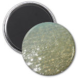 Water on the Beach I Abstract Nature Photography 2 Inch Round Magnet