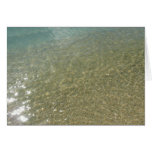 Water on the Beach I Abstract Nature Photography Card
