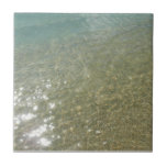 Water on the Beach I Abstract Nature Photography Ceramic Tile