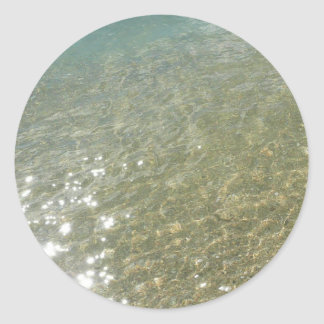 Water on the Beach I Abstract Nature Photography Classic Round Sticker