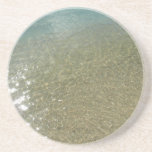 Water on the Beach I Abstract Nature Photography Coaster