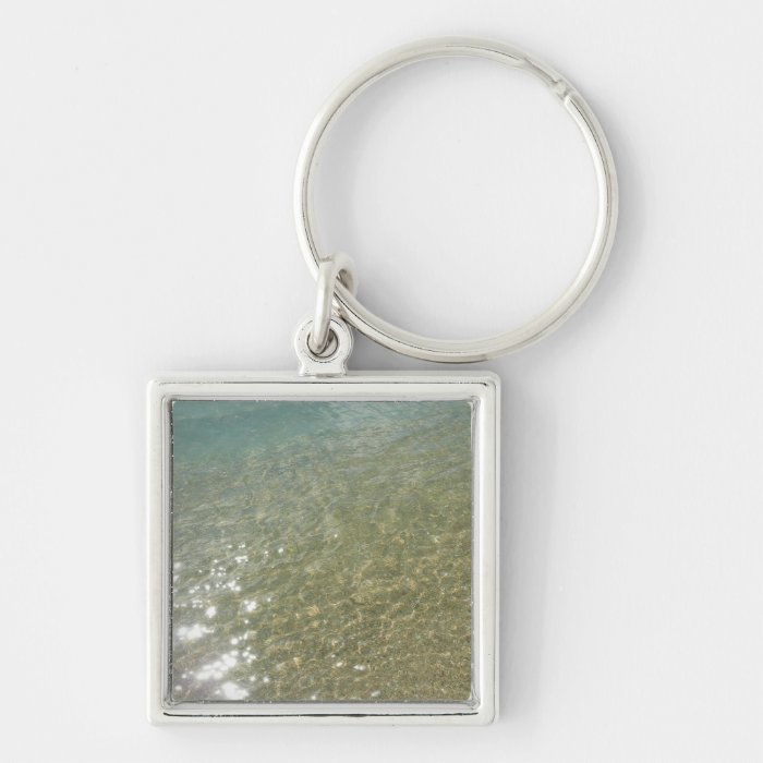 Water on the Beach I Abstract Nature Photography Keychain