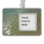 Water on the Beach I Abstract Nature Photography Ornament
